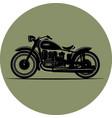 vintage motorcycle vintage a retro vector image vector image