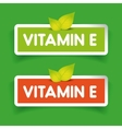 Vitamin E label set vector image vector image