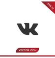 vk icon vector image