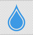 water drop icon in flat style raindrop on vector image vector image