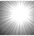 white black radial backdrop art explosion vector image