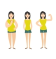 Woman Figure Fat Normal Slim vector image