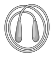 Skipping rope icon gray monochrome style vector image