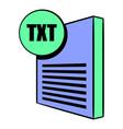 txt file icon cartoon vector image