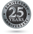 25 years anniversary silver label