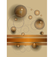 Abstract balls and stars vector image