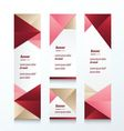 abstract banner set love style vector image vector image