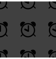 alarm clock web icon flat design Seamless pattern vector image