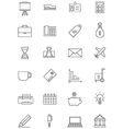 black economy icons set vector image vector image