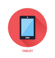 black tablet with blank screen flat style icon vector image vector image