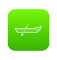 boat with paddle icon digital green vector image vector image
