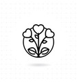 bouquet icon vector image