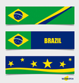Brazil Flags concept design vector image