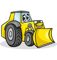bulldozer character cartoon vector image vector image