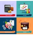 Business Realistic Set vector image vector image