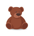 cartoon style of toy bear vector image vector image