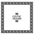 Celtic knot square frame vector image vector image