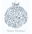Christmas doodle vector image vector image