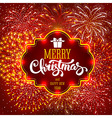 Christmas Firework vector image vector image