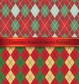 Christmas Seamless Argyle Pattern Design Set 4 vector image vector image