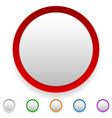 circle button circle icon set with empty space vector image vector image