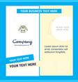 coat company brochure template busienss template vector image vector image