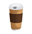 coffee paper glass vector image vector image