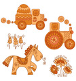 color of agriculture transport vector image vector image