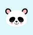 cute panda face iconon blue background vector image vector image