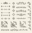 decorative ornate set vintage floral dividers vector image