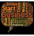 entrepreneur biography text background wordcloud vector image vector image