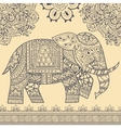 Ethnic Elephant Seamless Pattern vector image