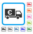 euro shipment framed icon vector image vector image