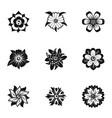 florist decoration icon set simple style vector image
