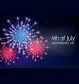 fourth july independence day united vector image vector image