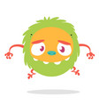 funny cartoon of scary green monster vector image vector image