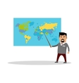 Geography Lesson Flat Design vector image