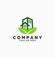 green building design icon vector image vector image