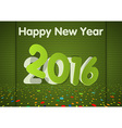 Green Happy New Year Card vector image