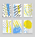 hand drawn doodle cards with abstract ink patterns vector image vector image