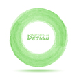 Hand drawn watercolor light green circle design el vector image vector image