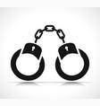 handcuffs icon black design vector image