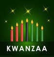 happy kwanzaa design for banner print vector image vector image