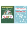 Happy New Year Merry Christmas Family holidays vector image