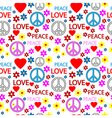 Hippie seamless pattern