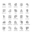 innovative logistics delivery icons vector image vector image