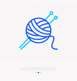 knitting thin line icon tangle and spokes vector image