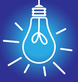 Lightbulb lit white and blue vector image