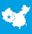map of china icon white vector image