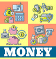 money concept banner cartoon style vector image vector image